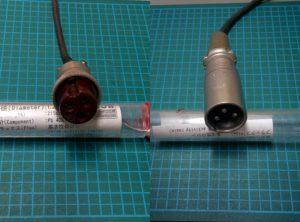 左のコネクターを右のXLRに変更